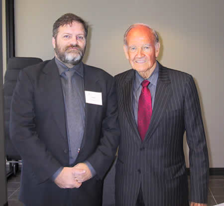 Darrel Plant and George McGovern at the 2007 McGovern Conference in South Dakota