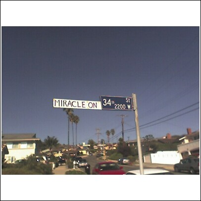 street sign in san pedro