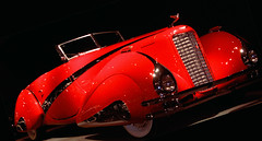 '37 cust caddy (Seattle rainscreen) Tags: california red classic car museum vintage classiccar cadillac exotic danville huge custom rare collector 1937 v16 g9 blackhawkautomuseum blackhawkmuseum