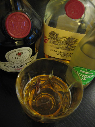 Ingredients for the Oh Henry Cocktail