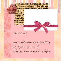Valentine's day scrapbook layout 2