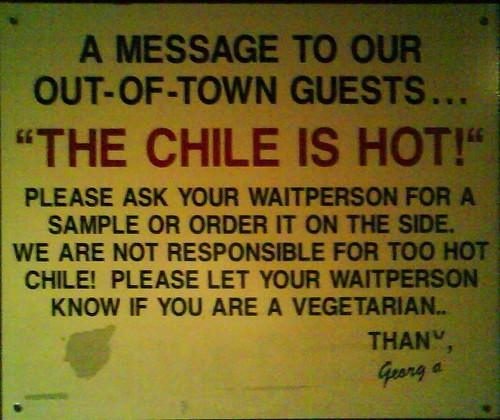 Albuquerque, NM Sign in the Foyer of Tomasita's (army.arch) Tags: sign nm santafenewmexico tomasitas