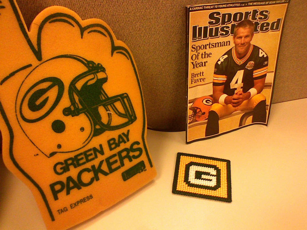 Jerry's Packers shrine (close-up)
