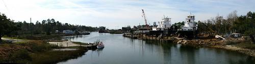 Ship building at Alabama Port, Alabama, USA