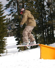 tip of the rail (daemonllama) Tags: snow tahoe boreal donner