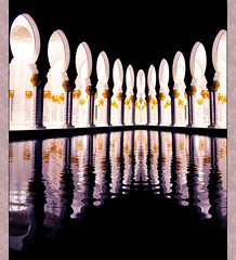Sheikh Zayed Mosque (Cherie) Tags: reflection water night muslim islam united prayer praying uae ad mosque emirates zayed arab abu dhabi sheikh cherie noonah cheriee
