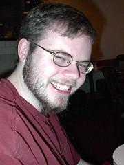 James smiling.