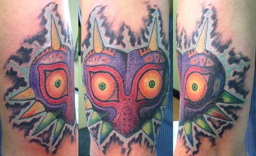 majora's mask tattoo by Tattoos by Ryan @ Stained Skin/ Nerk