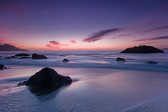 Marshall's Beach Sunset, San Francisco (Tyler Westcott) Tags: sanfrancisco california longexposure sunset beach clouds evening coast dusk explore pacificocean nikond40 marshallsbeach