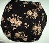 Fattycakes M Roses on black corduroy w/ Organic Bamboo Velour, doubler and Hidden snaps **Free Ship*