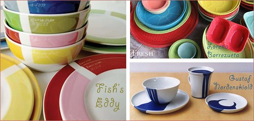 colorful dishes