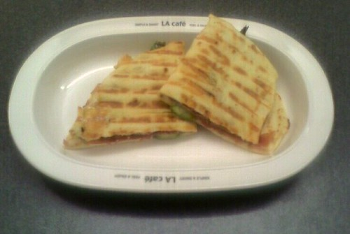 Vegetable Proscuitto Brie Quesadilla
