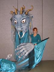 Second Genie Puppet- Ballet Met- Aladdin 2008 (TonyaMarie) Tags: wood sculpture woman costume doll soft puppet lion jewelry pixie fantasy foam lizzard genie