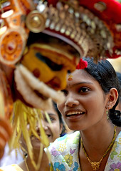 """Will i find a good husband?"" Muthappan Theyyam as Lord Vishnu - India (Eric Lafforgue) Tags: woman india girl female democracy worship vishnu femme kerala dancer future indie ritual hindu indi fille indien hind indi inde hodu malabar southasia indland  hindistan devam indija   ndia theyyam hindustan kannur kasargod teyyam  theyam thalassery tellicherry  lafforgue   ericlafforgue hindia  theyyattam bhrat  theyyaattam 703978 thallicherry astrolg kolathunadu indhiya bhratavarsha bhratadesha bharatadeshamu bhrrowtbaurshow  hndkastan"
