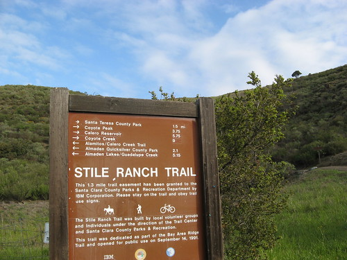 Stile Ranch trail head