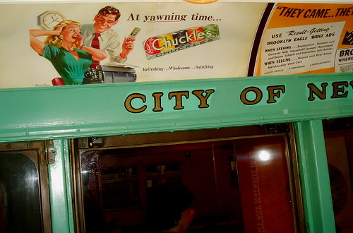 Ads in old subway cars