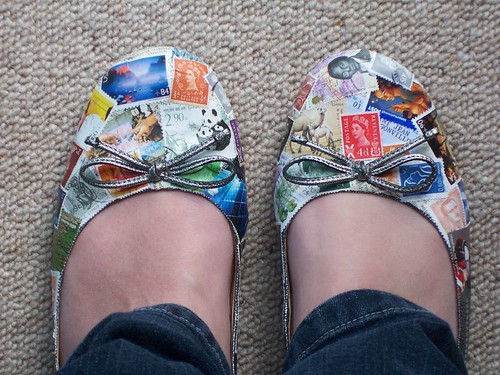 Collage shoes