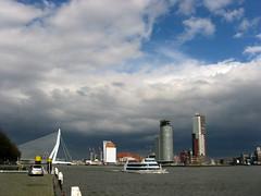 skyline Rotterdam 2008 (Jacqueline ter Haar) Tags: skyline rotterdam brug kopvanzuid zon luchten hollandse dutchskies skylinerotterdam