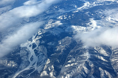 The Stewart River Valley (Paddy's point of view) Tags: mountain canada monochrome creek river aerial yukon stewart valley yt yukonterritory scroggie stewartriver scroggiecreek