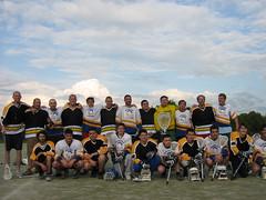 Първите два отбора играли официален мач по лакрос.