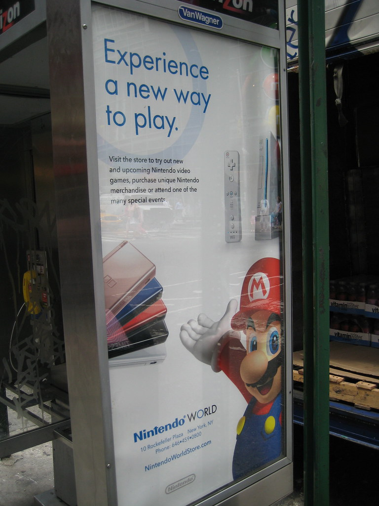 Nintendo World Ad in NYC