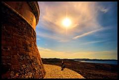 Tower of Fornells (Wizard Snaps) Tags: sunset sea summer sky sun sexy tower castle beautiful stone clouds digital canon eos spain fort path creative breathtaking menorca fornells castilla smrgsbord smorgasbord britishfort 400d