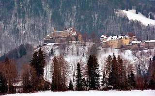 Château de Gruyères sous la neige