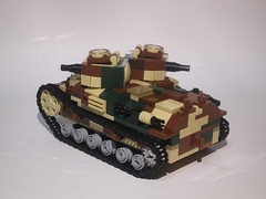 LEGO Twin Turret Tank (back shot) (nunutsuki(ぬぬつき)) Tags: legomilitary lego legotank tank
