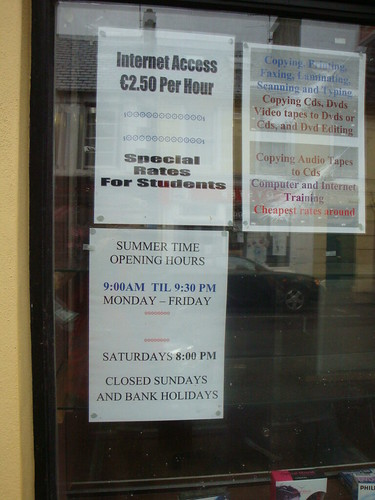 Internet cafe terms