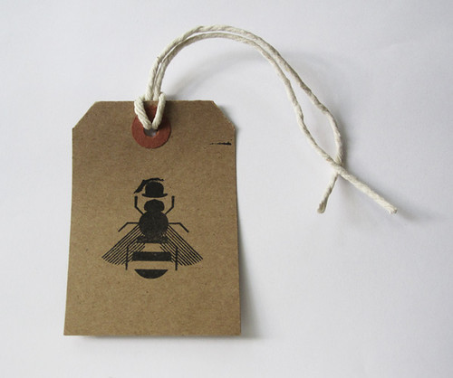 Raw London Honey paper tag