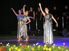 El Conjunto Maucó interpretando el cuadro Homenaje a Violeta Parra.