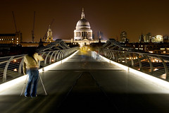 St Paul's (Simon Crubellier) Tags: uk longexposure england london canon eos europe nightshot interestingness1 stpauls millenniumbridge southbank stpaulscathedral saintpaulscathedral southwark bankside eos20d saintpauls londonist simoncrubellier