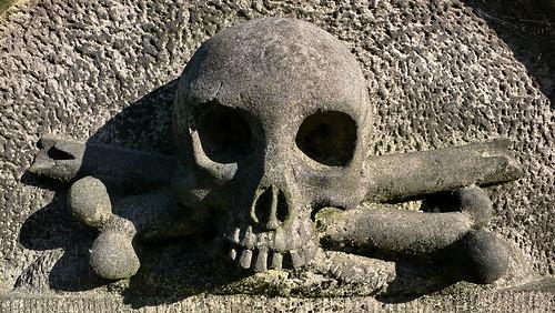 Friedhof Ohlsdorf in Hamburg - Totenkopf