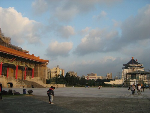 Music Hall and the Chiang Kai-Shek Memorial Hall, both under renovation