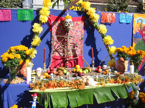 Altar at Day of the Dead Festival in Oakland 2007