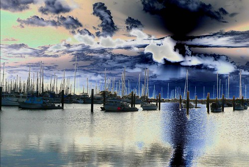 abstract colour boat harbour australia queensland scarborough mythoto