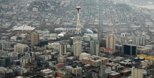 Space Needle and downtown