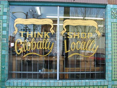 shop locally, think globally