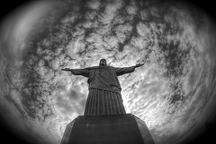 Cristo Redentor (wili_hybrid) Tags: trip travel november winter brazil vacation bw holiday rio statue riodejaneiro geotagged outside outdoors photo yahoo high nikon flickr exterior christ dynamic photos outdoor picture pic journey wikipedia imaging d200 cristo mapping range geotag tone hdr redeemer redentor hdri 2007 photomatix nikond200 tonemapped tonemapping interestingness451 i500 highdynamicrangeimaging year2007
