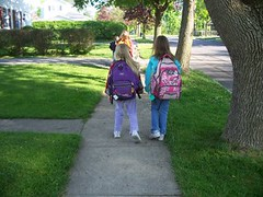 walking to school (by: Dan Burden, courtesy of Ped/Bike Image Library)