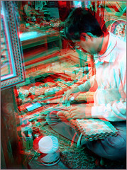 You need Red/Cyan glasses: Craftman_Anaglyph 3D (Shahrokh Dabiri) Tags: persian 3d iran picture craft anaglyph stereo shiraz iranian bazaar depth stereography handycraft craftman stereopicture 3dpicture