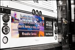Friendlier (Gabriel M.A.) Tags: street leica winter bw color bus digital downtown minneapolis rangefinder busstop m8 f2 40mm manualfocus angst passiveaggressive advertissement mrokkor minoltarokkor40mmf20cle ohpawlentyunderfundingwhymustyoumockusso