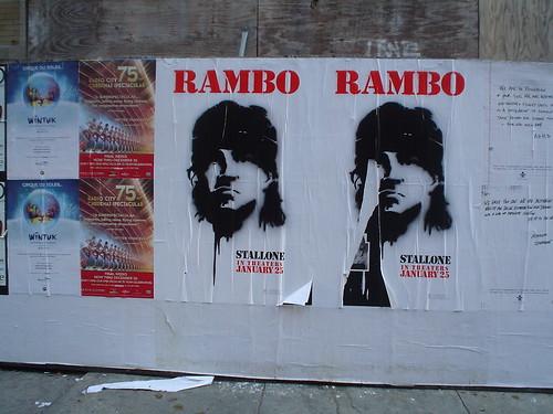Rambo signage, SOHO
