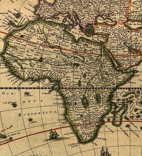 African map indented