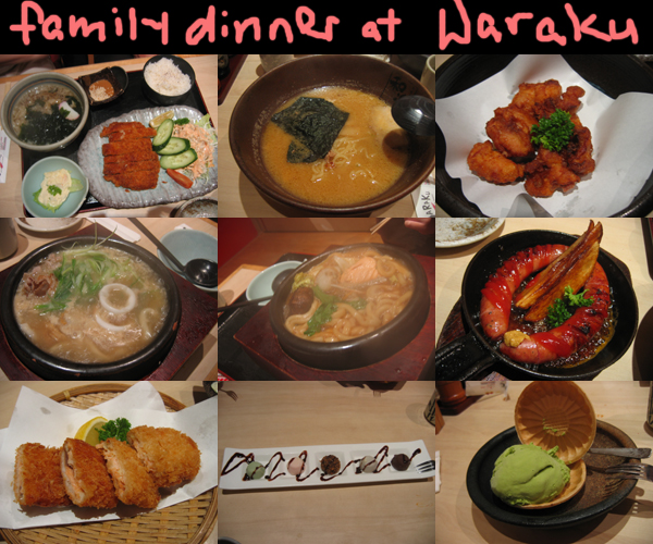 christmas family dinner at waraku