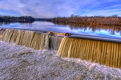 Merrimack River: Lawrence Dam (TimDD) Tags: river waterfall lawrence dam hdr churn merrimackriver nikond2x lawrencema interestingness231 impressedbeauty ysplix naturewatcher goldenvisions