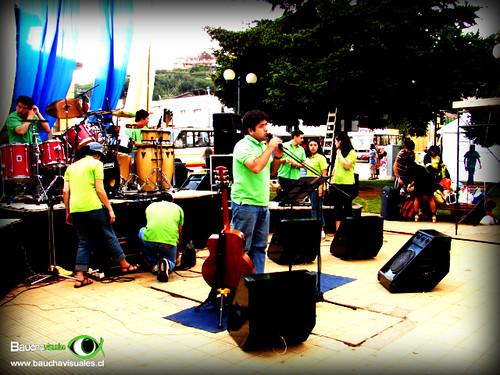Evangelismo en Plaza de Tomé-Chile
