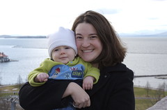 Ian & Mom near Lake Champlain in Vermont