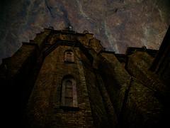 Neo-gothic church (gothicburg) Tags: brick architecture photoshop dark göteborg weird sweden ominous gothenburg masonry spooky mysterious cryptic lightroom hauntedhouses hagakyrkan olympusc5050z darkdeviations