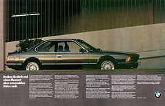 Reklame BMW 6er E24 (1985) (jens.lilienthal) Tags: auto old classic cars car vintage advertising reclame ad voiture advertisement advert older bmw autos werbung reklame csi voitures anzeige 6er 635 e24